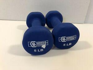 Series 8 Dumbbell Set 5 lb Dumbbells Total 10 Lbs Pounds