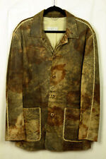 GIMO'S * ITALY * EXQUISITE JACKET IN DISTRESSED LAMB SUEDE * 54 EUR * SUPERB