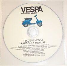 CD MANUALE OFFICINA+MANUTENZIONE+RICAMBI,PIAGGIO VESPA SPRINT 125-150 VLB1 prm