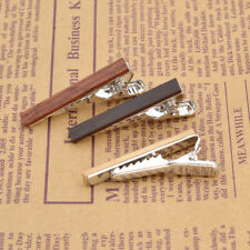 Retro Men Wood Tie Clasp Tie Bar Clip Wedding Party Jewelry Clothes Decor Gift