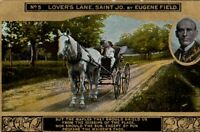 "Vintage Romance Postcard ""No. 5, LOVERS LANE, SAINT JO by Eugene Field"" c1910s"