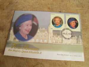 1996 Cover/ FDC - Nevis Isle - Queen's 70th Birthday - Royal interest