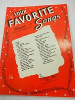Your Favorite Songs complete with words song book 1953