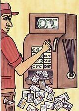 POSTCARD / CARTE POSTALE ILLUSTRATEUR / PHILIPPE DUPLAYE / LA MACHINE A 100 SOUS