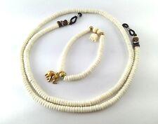 Puka Shell Hawaii Surfer island Bracelet&Necklace White Round Beads Mens Women