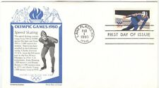 USA Olympische Spiele Olympic Games 1980 FDC with Speedskating cachet Aristocrat