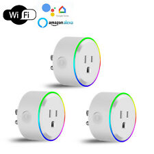 3 Mini Wifi Smart Outlet Adapter Plug Socket Switch Work With Alexa/Google Home