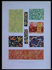 MOTIFS ART DECO -1924- LITHOGRAPHIE, EUGEN BENZ, PAPIER PEINT
