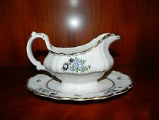 GRAVY BOAT - BOOTH'S ENGLAND CHINA PATTERN A8086 SCALLOPED RIM