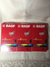 Lot Of 3 New  BASF VHS T-160 - 8 Hour Tape Total Of 24 Hours Factory Sealed