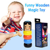 Unbreakable Wooden Magic Toy The Wooden Stubborn Man Toy Gifts