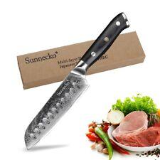 5 Inch Santoku Knife Damascus Chef Japanese Vg10 Steel 73-layer Sashimi Knife Aa