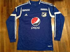 Adidas 2012 MILLONARIOS FC Colombia Men's Long Sleeve Formotion Soccer Jersey L