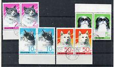 Corea Fauna Gatos y Perros Valores del año 1978 (CS-439)