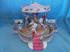 2001   Barbie Doll    Holiday Go Round Carousel Mr Christmas Figurine Music Box