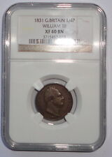 GREAT BRITAIN UK COIN  FARTHING   1831 NGC  XF 40 BN