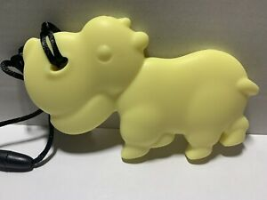 Animal Teether Baby Teething Chewable Cute Silicone Toys Hippo Yellow