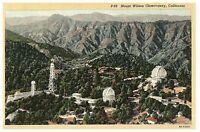 Vintage Postcard Mount Wilson Observatory Sierra Madre California Posted 1949