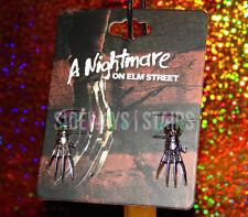 FREDDY KRUEGER GLOVE STUD EARRINGS claw a nightmare on elm street horror jewelry