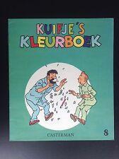 Album Cahier à colorier  Kuifje's Kleurboek Tintin N° 8 1969 ETAT NEUF
