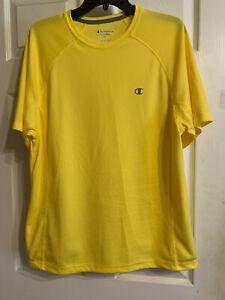 Champion Sport Powertrain Mens Yellow T-Shirt Top Size L