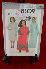 Simplicity 8309 Size 12 Sewing Pattern