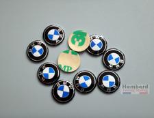 2 Logo Stickers Clé Clefs key BMW 11 mm en Aluminium Emblème Autocollants Logos