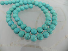 Turquoise Blue/Green Howlite 8mm Beads