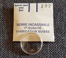 Verre de montre suisse armé bagué plexi diamètre 272 Watch crystal vintage NOS