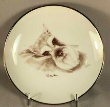 Laurelwood Lt Ed Porcelain Cabinet Plate Of A Miniature Schnauzer Dog