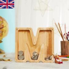 More details for wooden piggy bank creative twenty-six english alphabet piggy bank wooden crafts