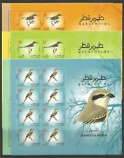 STAMPS-QATAR. 2009. Birds Set in Sheetlets of 8. SG: 1234/39. Mint Never Hinged.