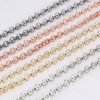 Chic DIY Silver Gold Extra Length Necklace Chain Pendant Floating Charms Locket
