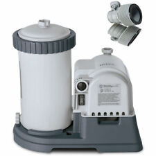 Intex Swimming Pool 2500 GPH with Timer & GFCI Filter Pump + Hose Adapters 25009