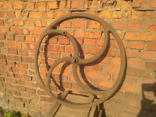Gear Wheel Cast Iron Industrial Art Steampunk  Big Antique 34""