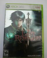 The Last Remnant Xbox 360 Game and case Working Good Tested