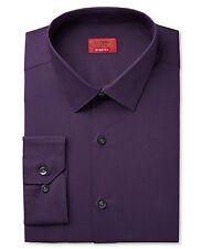 Nwt $95 Alfani Men Slim-Fit Stretch Purple Long-Sleeve Dress Shirt 15-15.5 34/35