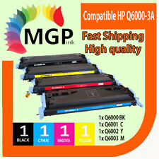 4x Toner Cartridge Q6000A Q6001A Q6002A Q6003A for HP Laserjet 1600 2600N 2605