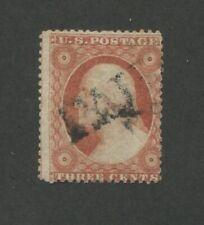 1857 United States Postage Stamp #25 Used Average PAID Cancel