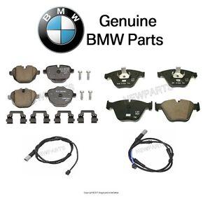 NEW For BMW F10 535d 535i Front & Rear Brake Pads Set with Sensors KIT Genuine