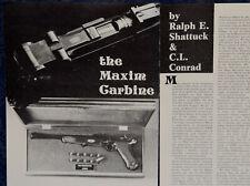 """Vintage ORIGINAL Article """"The MAXIM CARBINE"""" 2-p Magazine 1975"""