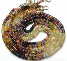 """Super Fine Quality Natural Gem Multi Sapphire Faceted 3-4MM Bead Necklace 16"""""""