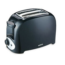 Sabichi 2 Slice Black Essential Kitchen Bread Toaster Crumb Tray Defrost Reheat