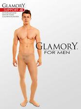 Collant de soutien pour hommes Glamory Support 40 teint noir à la taille 4XL 64