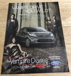 THE VAMPIRE DIARIES Ford Fiesta Ad - 2010 Magazine Print Ad