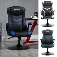 Vinsetto High Back Video Gaming Chair Height Adjustable Flip Armrest 360° Swivel