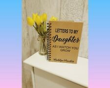 Personalised Letters to daughter son bump Journal Wedding planner Notebook - A5