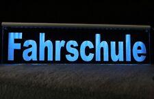 LEUCHTSCHILD FAHRSCHULE  30 LED  oder Wunschtext Gravur
