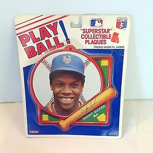 Vintage 1980's PLAY BALL Superstar Collectible Plaque NY Mets Dwight Gooden MLB
