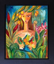 Woman Figurative Landscape Foliage Fruit Cuban Artist Contemporary Art SFASTUDIO